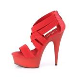 Rouge bande élastique 15 cm DELIGHT-669 chaussures pleaser à talon femme