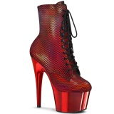 Rouge chrome 18 cm ADORE-1020HFN exotic bottines de pole dance