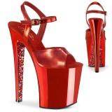 Rouge chrome plateforme 20 cm XTREME-809TTG talons hauts pleaser