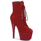 Rouge glitter 18 cm ADORE-1020FSMG exotic bottines de pole dance