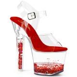 Rouge paillettes 18 cm LOVESICK-708GH chaussure à talons de pole dance
