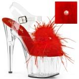 Rouge plumes de marabout 18 cm ADORE-708MF chaussure de pole dance