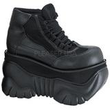 Similicuir 10 cm BOXER-01 Chaussures Gothiques Hommes Plateforme