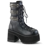 Similicuir 10 cm DEMONIA RANGER-305 bottines gothique avec rivets