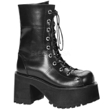 Similicuir 10 cm Demonia RANGER-301 bottines plateforme gothique