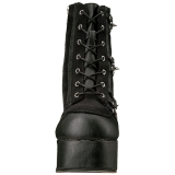 Similicuir 11,5 cm DEMONIA CHARADE-100 bottines gothique avec rivets