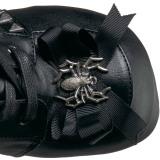Similicuir 11,5 cm DEMONIA CHARADE-150 bottes gothique avec rivets