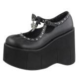 Similicuir 11,5 cm KERA-14 chaussures lolita gothique plateforme