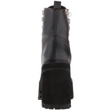 Similicuir 12 cm ASSAULT-100 bottines gothique semelles épaisses