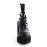 Similicuir 12 cm ASSAULT-101 bottines gothique semelles épaisses