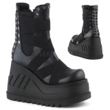 Similicuir 12 cm Demonia STOMP-25 bottines plateforme gothique