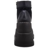Similicuir 12 cm STOMP-10 bottines lolita gothique semelles compensées