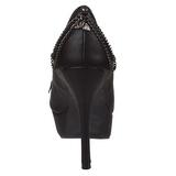 Similicuir 13,5 cm PIXIE-16 chaussures escarpins bout ouvert