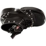Similicuir 13 cm DEMONIA CAMEL-202 bottines gothique avec rivets