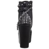 Similicuir 13 cm POISON-101 bottines compensées lolita gothique