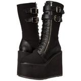 Similicuir 14 cm SWING-221 bottes lolita gothique semelles épaisses