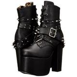 Similicuir 14 cm TORMENT-700 bottines gothique semelles épaisses