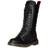Similicuir 3,5 cm RIVAL-300 Bottes punk noir avec lacets