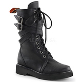 Similicuir 3,5 cm RIVAL-307 bottines punk