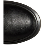 Similicuir 3,5 cm RIVAL-400 Bottes punk noir avec lacets