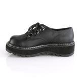 Similicuir 3 cm LILITH-99 chaussures punk noir avec lacets
