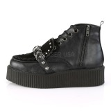 Similicuir 5 cm CREEPER-555 Bottines Creepers Hommes Plateforme