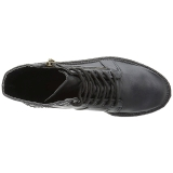 Similicuir 5 cm CREEPER-571 Bottines Creepers Hommes Plateforme