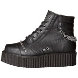 Similicuir 5 cm V-CREEPER-565 Bottines Creepers Hommes Plateforme