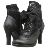 Similicuir 9,5 cm DEMONIA GLAM-200 bottines gothique lolita