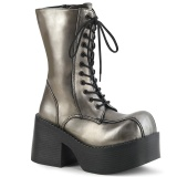 Similicuir 9 cm Demonia PLATOON-202 bottines plateforme gothique