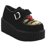 Similicuir CREEPER-213 Chaussures Creepers Femmes Plateforme