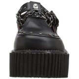 Similicuir CREEPER-215 Chaussures Creepers Femmes Plateforme