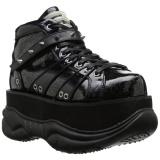 Similicuir Noir 7,5 cm NEPTUNE-100 Chaussures Gothiques Hommes Plateforme