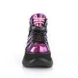 Similicuir Pourpre 7,5 cm NEPTUNE-100 Chaussures Gothiques Hommes Plateforme