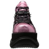 Similicuir Rose 7,5 cm NEPTUNE-100 Chaussures Gothiques Hommes Plateforme