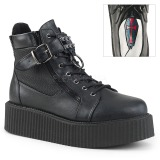 Similicuir V-CREEPER-566 Bottines Creepers Hommes Plateforme
