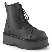 Similicuir boots 5 cm SLACKER-55 bottines à lacets noirs