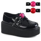 Suede 5 cm CREEPER-222 chaussures creepers femmes semelles épaisses