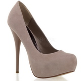 Suede Beige 13,5 cm GORGEOUS-20 Escarpins Talon Haut Stiletto