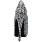 Titane Strass 14,5 cm Burlesque TEEZE-06R Talons Aiguilles Escarpins