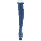 Toile 15 cm DELIGHT-3030 Plateforme cuissardes et genoux