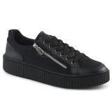 Toile 4 cm SNEEKER-105 Chaussures sneakers creepers hommes