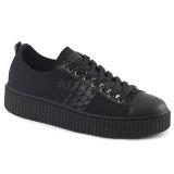 Toile 4 cm SNEEKER-107 Chaussures sneakers creepers hommes