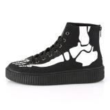 Toile 4 cm SNEEKER-252 Chaussures sneakers creepers hommes