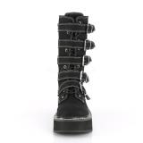 Toile 5 cm EMILY-341 bottes demonia plateforme