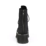 Toile en lin GRAVEDIGGER-10 bottes à cap d acier - bottes de combat unisex