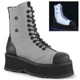 Toile en lin GRAVEDIGGER-102 bottes à cap d acier - bottes de combat unisex