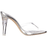 Transparent 11,5 cm CLEARLY-401 Plateau Mules Talons Hauts
