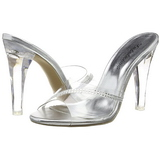 Transparent 11,5 cm CLEARLY-401R Plateau Mules Talons Hauts