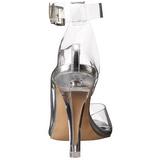 Transparent 11,5 cm CLEARLY-430 Sandales de Soirée a Talon